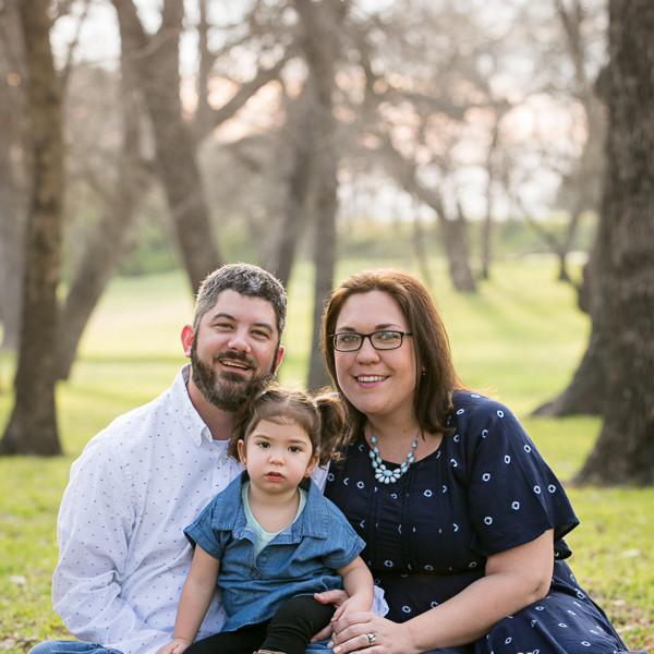 Jennifer, Jason, Bryce & MaryJane-Family Portraits at Trinity Park
