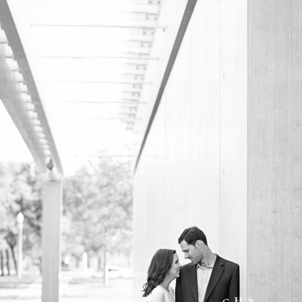 Stephanie and Ben - Engagement Session at The Kimbell Art Museum and Trinity Trails