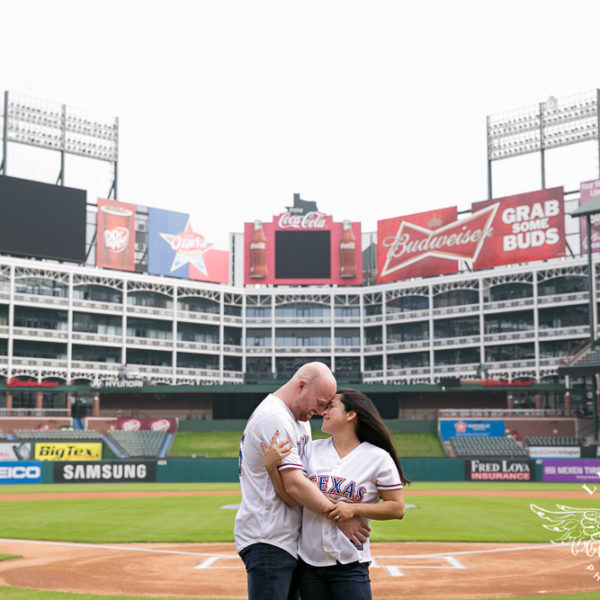 Jess and Bobby - Engagement Session at Globe Life Park