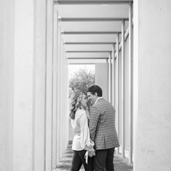 Lindsay and Keith - Engagement Portraits at Japanese Gardens and Kimbell Art Museum