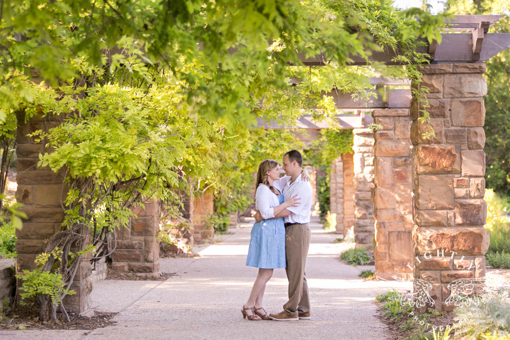 Kelly Chris Engagement Session At The Botanic Garden And Downtown Fort Worth Lightly