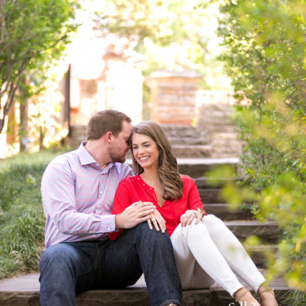 Leah & Grant Engagement - Botanic Gardens and Downtown Fort Worth