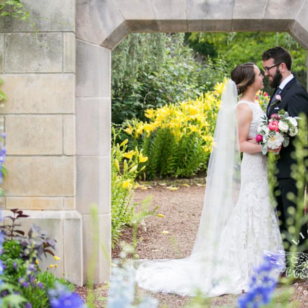 Sarah & Matthew - First Look & Ceremony at the Dallas Arboretum