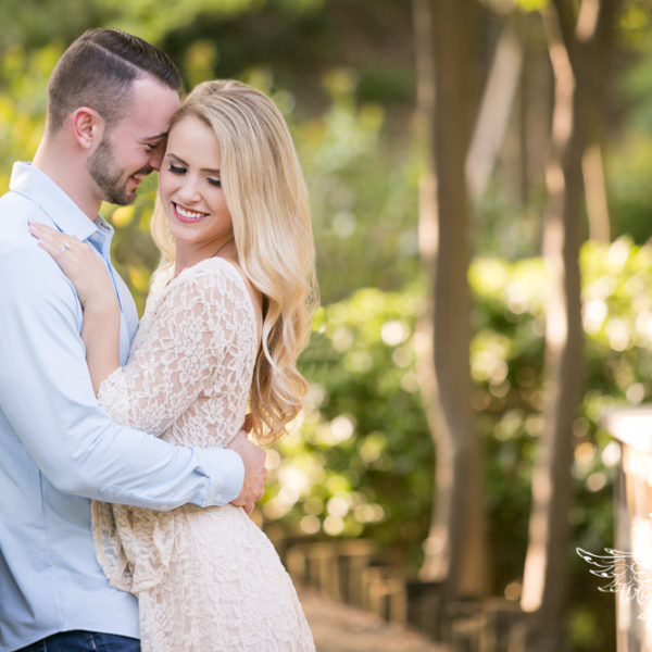 Lauren & CJ - Engagement Session at Japanese Gardens and TCU