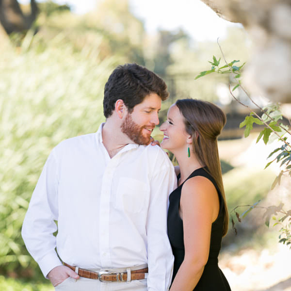 Hollis & Joe - Engagement Session at Shady Oaks Country Club and Trinity Trails Waterfall