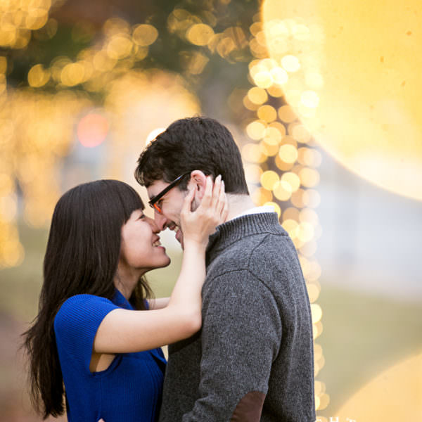 Wendy & Aaron - Engagement Session at Airfield Waterfall and Modern Art Museum