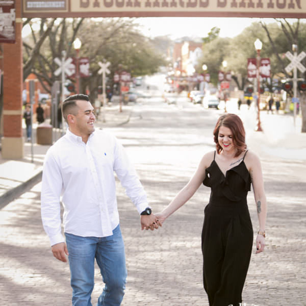 Emilee & Rodge - Engagement Session at Stockyards Station and Sundance Square