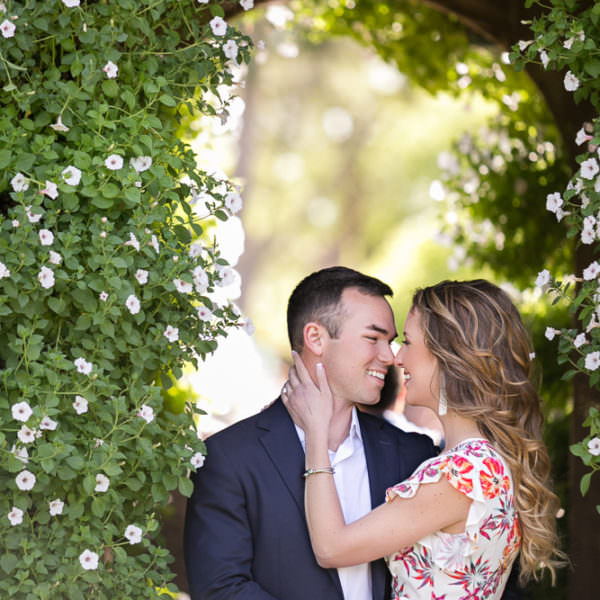 Sydnie & Bryant - Engagement Session at The Dallas Arboretum
