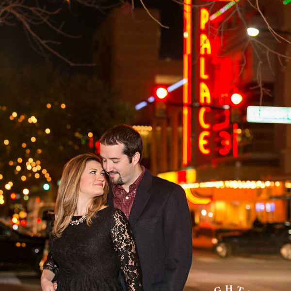 Lisa and John - Engagement Session at Sundance Square Downtown Fort Worth and Trinity Park