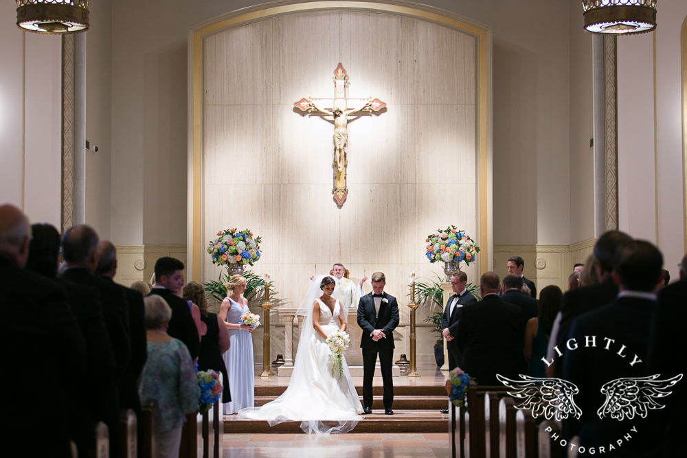 Wedding Holy Trinity Catholic Church Melrose Warwick Hotel Dallas Texas Classic Wedding Amanda McCollu Lightly Photography-063