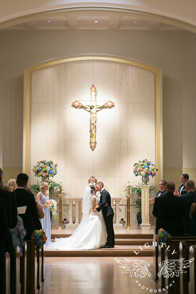 Wedding Holy Trinity Catholic Church Melrose Warwick Hotel Dallas Texas Classic Wedding Amanda McCollu Lightly Photography-076