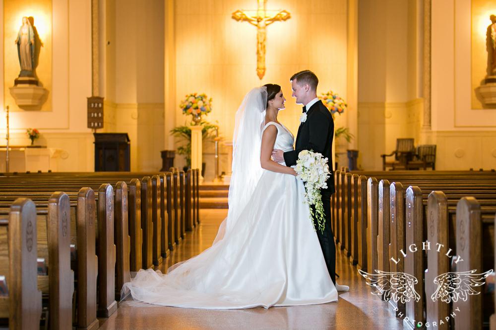 Wedding Holy Trinity Catholic Church Melrose Warwick Hotel Dallas Texas Classic Wedding Amanda McCollu Lightly Photography-079