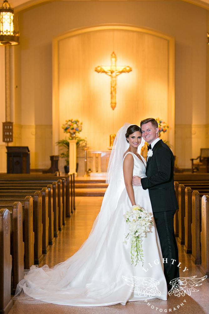 Wedding Holy Trinity Catholic Church Melrose Warwick Hotel Dallas Texas Classic Wedding Amanda McCollu Lightly Photography-083