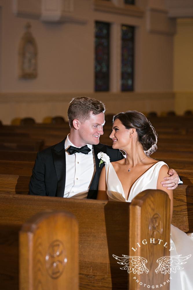 Wedding Holy Trinity Catholic Church Melrose Warwick Hotel Dallas Texas Classic Wedding Amanda McCollu Lightly Photography-084