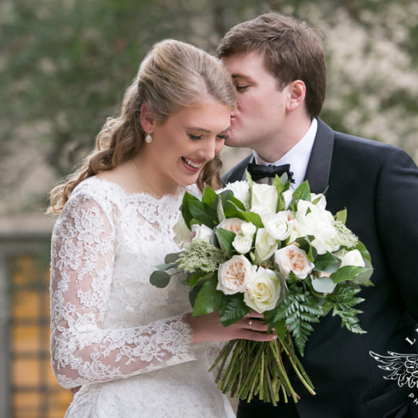 Laura Jean and Branden - First Look and Wedding Ceremony at St. Thomas Aquinas