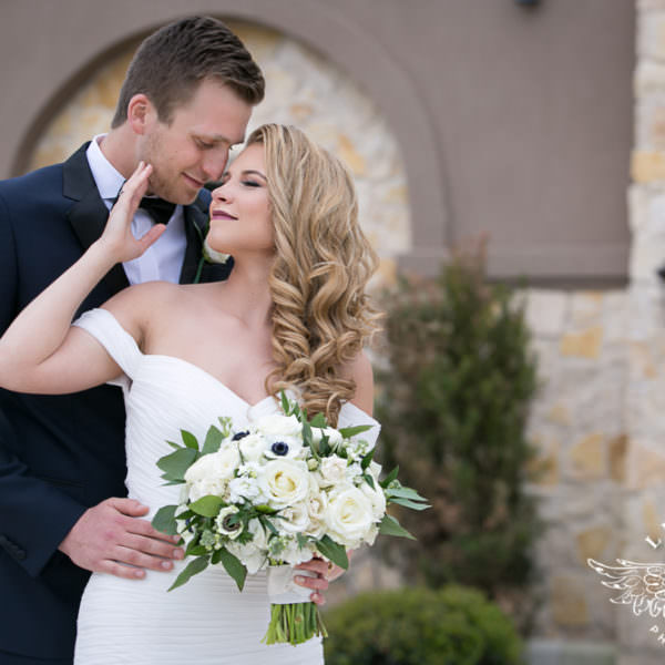 Allison and Logan - First Look and Wedding Ceremony at Piazza on the Green