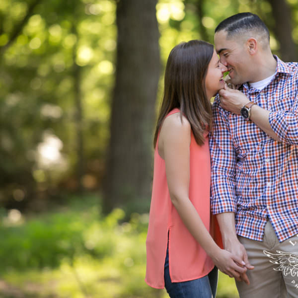 Magenta and Caleb - Engagement Session at Trinity Park and Downtown Fort Worth