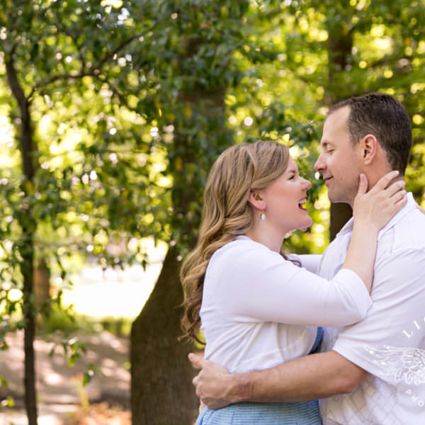 Kelly & Chris - Engagement Session at the Botanic Garden and Downtown Fort Worth