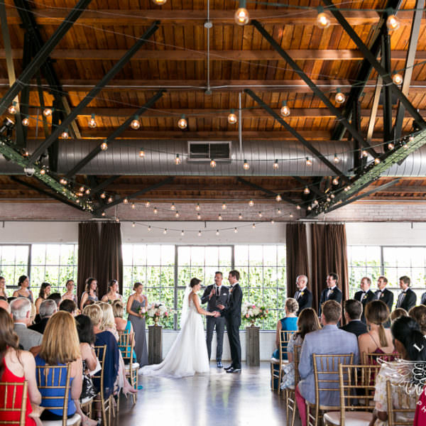 Lauren and Russell - Wedding Ceremony at Hickory Street Annex