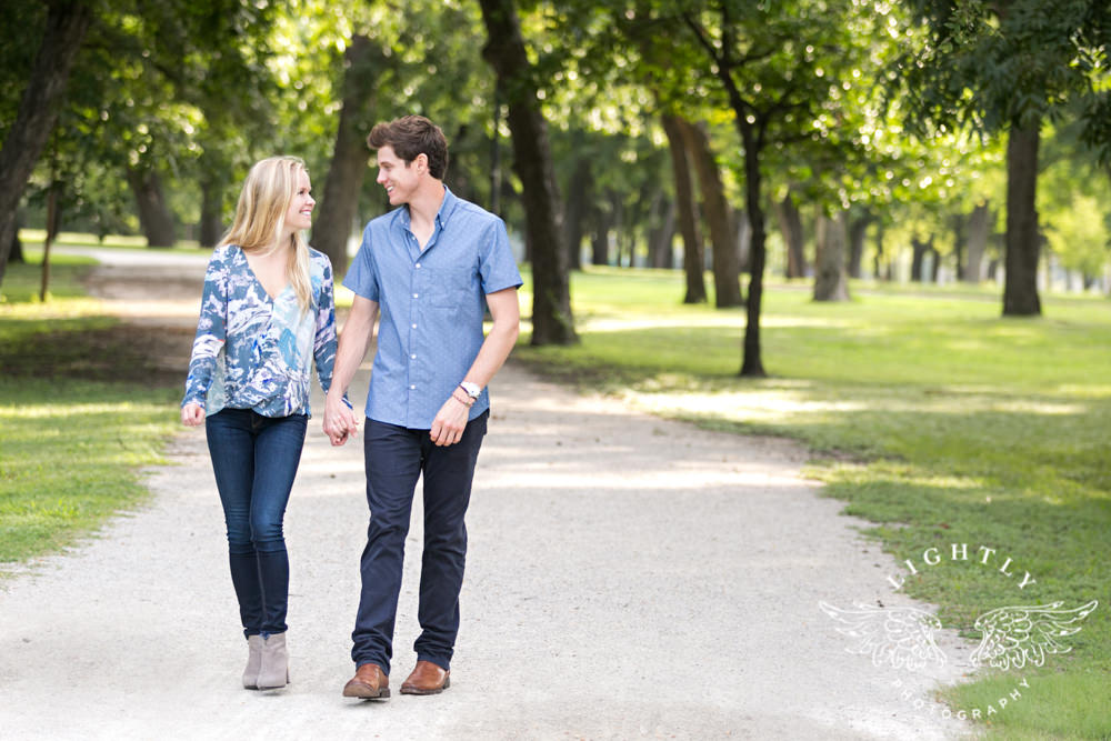 Maddy Luke Engagement Session In Fairmount Trinity Park