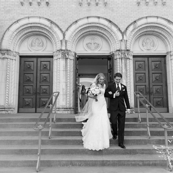 Janey & Collin - First Look and Wedding Ceremony at Holy Trinity Catholic Church